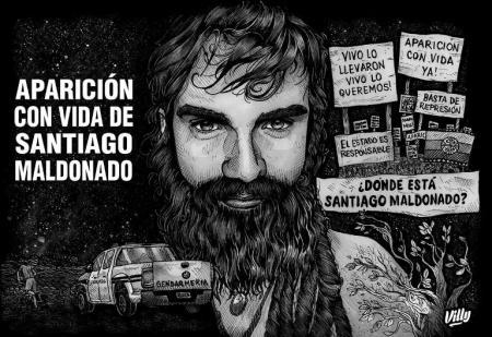 Aparición con vida Santiago Maldonado