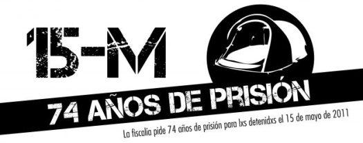 15M libertad. 74 años de cárcel. juicio febrero 2019