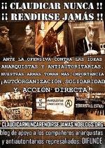 Información casos pandora, piñata, ice, represión movimiento anarquista