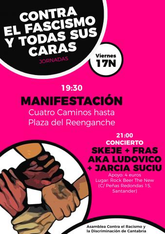 """Manifestación """"Contra el fascismo y todas sus caras"""""""
