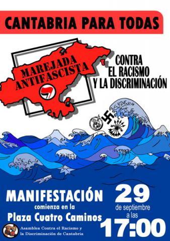 Manifestación contra el fascismo y el racismo
