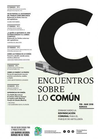 Encuentros sobre lo común en Burgos: enmarcando la reivindicación comunal para el parque de Artillería