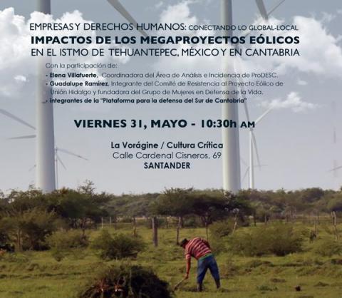 Impactos de los megaproyectos eólicos con Guadalupe Ramírez, Elena Villafuerte e integrantes de la Plataforma para la Defensa del Sur de Cantabria