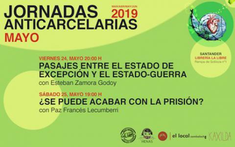 Jornadas anticarcelarias. Mayo 2019