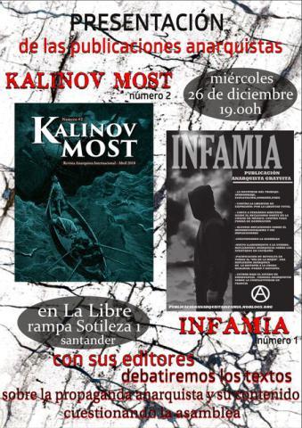 Presentación de las publicaciones anarquistas Kalinov Most nº2 e Infamia