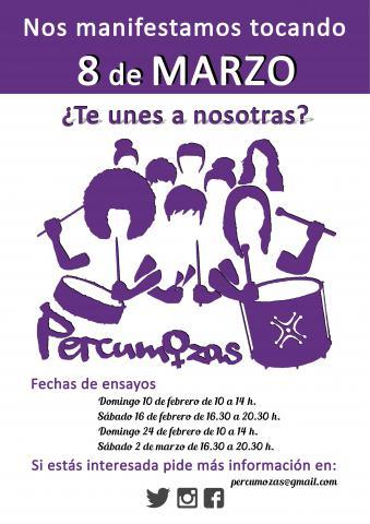 Percumozas; un colectivo de mujeres de Cantabria  desde lo musical y feminista