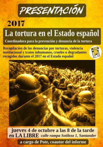 Informe La tortura en el estado español 2017