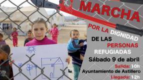 Marcha en apoyo a las personas que exigen refugio