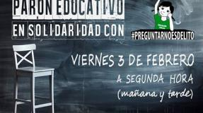 """Parón educativo en solidaridad con """"Preguntarnoesdelito"""""""