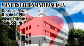 Manifestación antifascista convocada contra el acto público de ADÑ
