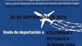 ALERTA! El 25 de Septiembre hay vuelo  de deportación a Colombia y República Dominicana