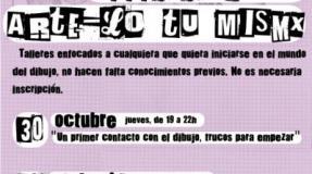 Taller Arte-lo tú mismx: «1:Papel 2:Lápiz 3:Gasolina»
