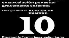 Carmen Badía Lachos, 10 días en huelga de hambre