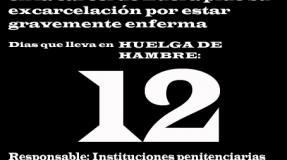 Carmen Badía Lachos, 12 días en huelga de hambre