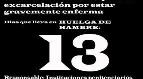 Carmen Badía Lachos, 13 días en huelga de hambre