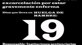 Carmen Badía Lachos, 19 días en huelga de hambre