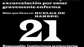 Carmen Badía Lachos, 21 días en huelga de hambre