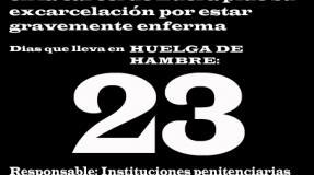 Carmen Badía Lachos, 23 días en huelga de hambre
