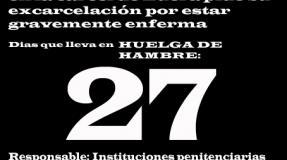 Carmen Badía Lachos, 27 días en huelga de hambre