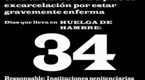 Carmen Badía Lachos, 34 días en huelga de hambre