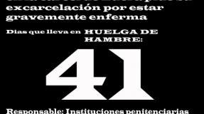 Carmen Badía Lachos, 41 días en huelga de hambre