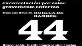 Carmen Badía Lachos, 44 días en huelga de hambre