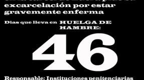 Carmen Badía Lachos, 46 días en huelga de hambre