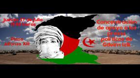 Concentración de apoyo a los presos políticos de Gdeim Izik