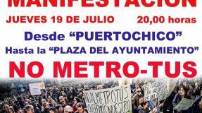 Manifestación NO METRO-TUS