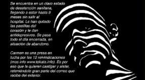 Carmen Badía, presa en la cárcel de Zuera, comienza una huelga de hambre