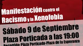 Manifestación contra el racismo y la xenofobia