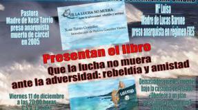 Presentación del libro «que la lucha no muera» ante la adversidad rebeldía y amistad