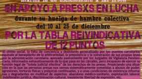 Mesa informativa Pro Presxs en lucha (Huelga de hambre colectiva 10-25 )dic