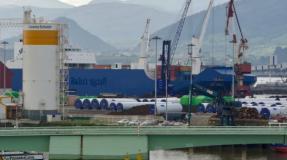 El Bahri Jazan ya está en el Puerto de Santander