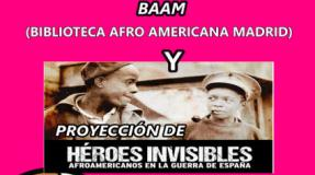 Biblioteca afroamericana de Madrid Y Héroes invisibles