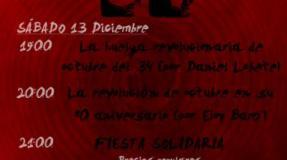Charla y fiesta solidaria sobre la Revolución de Octubre de 1934 en Asturias