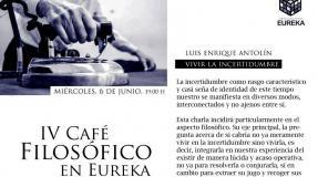 «Vivir la Incertidumbre». Café filosófico con Luis Enrique Antolín