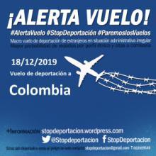 ALERTA! El 18 de diciembre hay vuelo de deportación a COLOMBIA