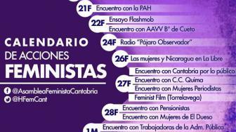 Calendario de acciones feministas