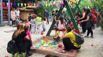 El Parque autogestionado de Navarinou, único parque infantil que queda en Exarchia